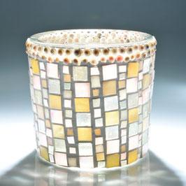 Glasmosaik Windlicht,  Vintage,  Grösse L