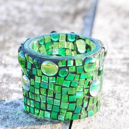 Glasmosaik Windlicht,GREEN DELUXE,Grösse  S