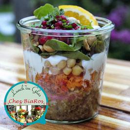 Salat für Dienstag 23.02.2021 - Bulgur-Salat mit Kichererbsen und Ras-el-Hanout