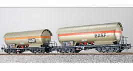 ESU 36535 Gas-Kesselwagen Set H0, ZAG 620, BASF 33 80 781 6 098-7 + BASF 33 80 781 6 101-9, DB Ep. IV, Vorbildzustand um 1985, perlbeige