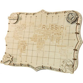 WOODEN CITY WORLD MAP EXPEDITION SERIES WORDS 508