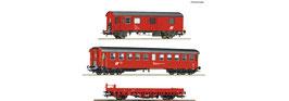 Roco 76050 - 3-delige set bouw / onderhoud treinwagons, DB