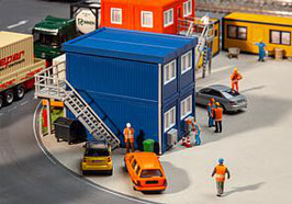 Faller 130134  4 bouwcontainers, blauw