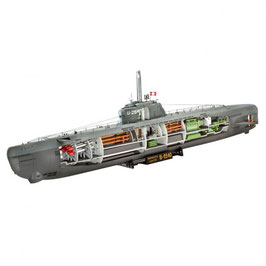 Revell 05078 Submarine Type XXI U 2540 &Interieur Schaal: 1:144