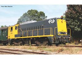 Piko NS 2200 geel-grijs, gele stelbalk, hoog A-sein,  Sound en digitale koppelingen, werkende zwaailampen
