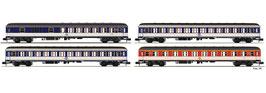 """Fleischmann 881908 - 4-pcs. Stel """"Pop-gekleurde DC-trein"""", DB"""