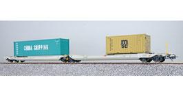 ESU 36550 Taschenwagen, H0, Sdggmrs, 31 84 495 5 761-6, NL-RN Ep. VI, Container CCLU 708800 + MEDU 189926, DC
