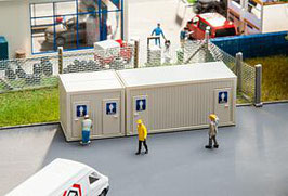 Faller 130131  Sanitaire containers