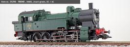 Esu 31296 Stoomlocomotief 98040 NMBS Tijdperk III zwart-groen sound + smoke DC / AC