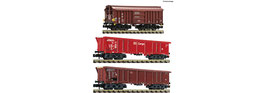 Fleischmann 829358 - 3 stuk set klei transport wagons, DB AG (Set 2)