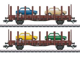 "Marklin 46404 Set platte wagens ""DAF 66"""