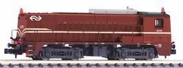 Piko 40445  NS 2275 bruin met opgeschilderde locomotiefnummers en NS logo's.