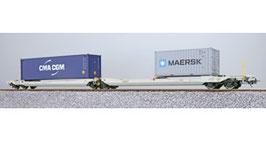 ESU 36549 Taschenwagen, H0, Sdggmrs, 31 84 495 5 740-0, NL-RN Ep. VI, Container CMAU 572323 + MRKU 736806, DC
