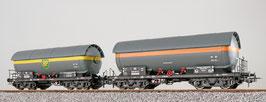 Esu 36520 Gas-Kesselwagen Set, H0, ZAG 620, EVA 538 857 + BP 581 709, DB, Ep. III, grau, DC