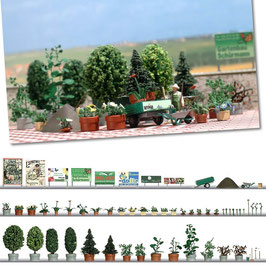 Busch 1211 Bloem en planter reeks HO