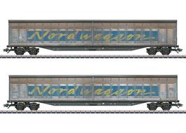"Marklijn 48065 Set schuifwandwagens ""Transwaggon"""
