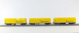 Lux 9635 H0-Wisselstroom (voor marklin) 3delige set met Railslijpwagen, Railstofzuiger en Middenrailreiniger