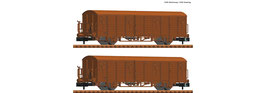 Fleischmann 826214 - 2pcs Set: Overdekte goederenwagons, DR