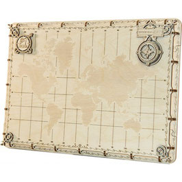 WOODEN CITY WORLD MAP EXPEDITION SERIES DOTS 507