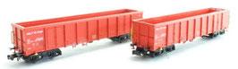 Hobbytrain 23418 Eanos Wagenset rood, 2 delig