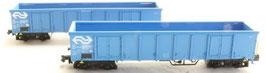 Hobbytrain 23417 Eanos Wagenset blauw, 2 delig