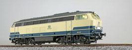Esu 31001 Diesellocomotief, H0, BR 216, 216100 DB, oceaanblauw / beige, tijdperk IV, prototype staat rond 1978, Sound + Rauch, DC / AC