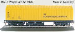 Lux 9136 MLR-1 Middenrailreinigingswagon voor Marklin 3 rail