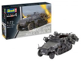 Revell 03324 Sd.Kfz. 251/1 Ausf.C + worp. 4e Schaal: 1:72