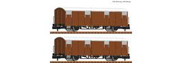 Fleischmann 826210 - 2pcs Set: Overdekte goederenwagons, DR