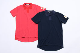 スキッパー衿ポロシャツ