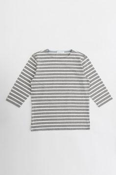 コットンボーダー七分袖Tシャツ