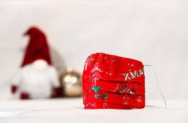 MNS - Maske Weihnachtsmuster Rot