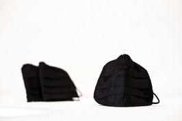 MNS - Maske Schwarz 3er-Pack