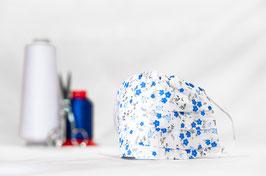 MNS - Maske in Weiß mit Blumen