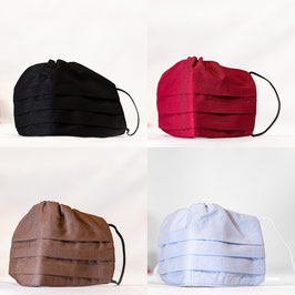 MNS - Maske 4er-Pack (Schwarz, Weinrot, Braun, Grau)