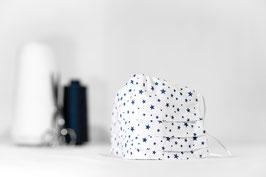 MNS - Maske in Weiß mit Sternen