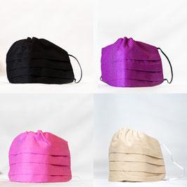 MNS - Maske 4er-Pack (Schwarz, Lila, Rosa, Beige)