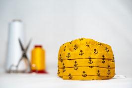 MNS - Maske in Gelb mit Anker