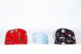 MNS - Weihnachtsmaske 3er-Pack (2x Erwachsen 1x Kind)