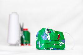 KINDER | MNS - Maske in Grün mit Muster