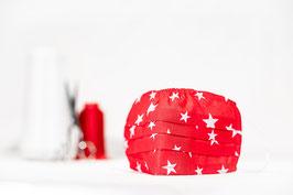 MNS - Maske in Rot mit Sternen