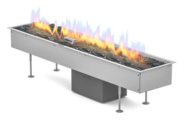 """Outdoor Loungefire """"Galio Insert Automatic 1000"""" - Gasbrenner - Edelstahl"""