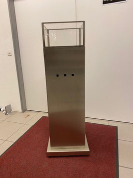 Gassäule Edelstahl - Ausstellungsmodell