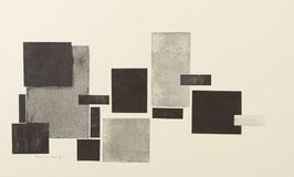 Compositie vierkanten zwart grijs