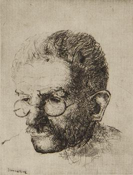 Portret man met bril en snor