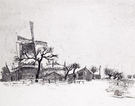 . Winterlandschap met molen