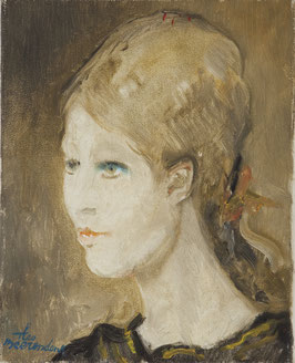Portret jonge vrouw.