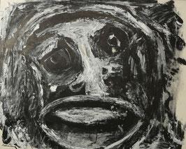 Abstract gezicht zwartwit