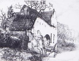 Oude boerderij aan de weg Limburg