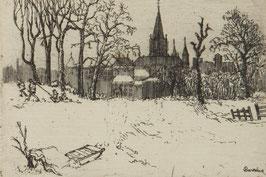 .Kinderen in de sneeuw met slee